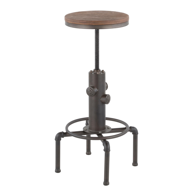 Tremendous Carbon Loft Pimentel Industrial Barstool In Metal And Wood Ibusinesslaw Wood Chair Design Ideas Ibusinesslaworg