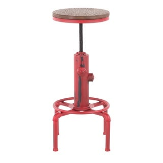 Link to Carbon Loft Pimentel Industrial Barstool in Metal and Wood Similar Items in Dining Room & Bar Furniture