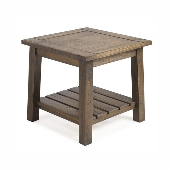 The Beach House Design SeaBrook Pine Wood End Table