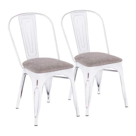Oregon Industrial-Farmhouse Upholstered Chair - Set of 2