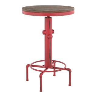 Hydra Industrial Bar Table in Metal and Wood