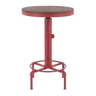 Carbon Loft Pimentel Industrial Adjustable Bar Table in Metal and Wood