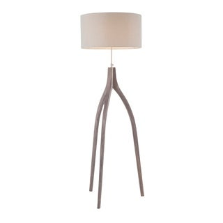 Wish Bone Contemporary Tripod Floor Lamp with Linen Shade