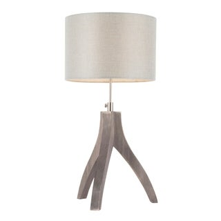 Wish Bone Contemporary Tripod Table Lamp with Linen Shade