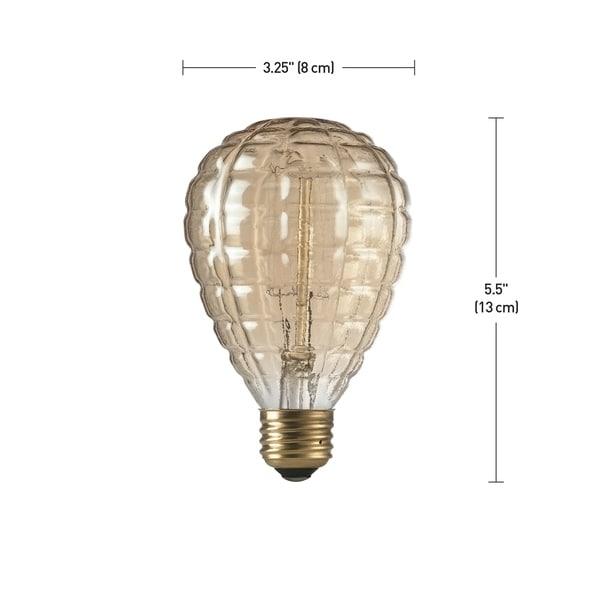 40W Amber Designer Vintage Edison Granada Incandescent Light Bulb,E26