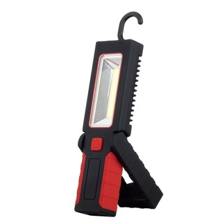 LED Integrated 2-in-1 Work Light & Flashlight, Red Finish, 3 AAA Batteries Required