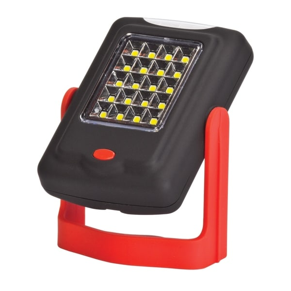 LED Integrated 2-in-1 Mini Work Light & Flashlight, Red & Black Finish, Batteries Included. Opens flyout.