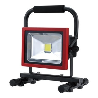 Ultra Bright Rechargable LED Worklight,20W,Li-Ion Battery,Red Finish