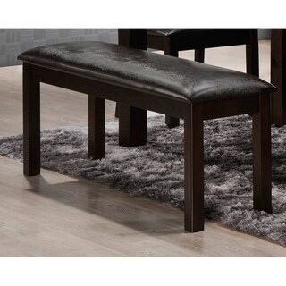 Simmons Casegoods Durango Brown Upholstered Dining Bench