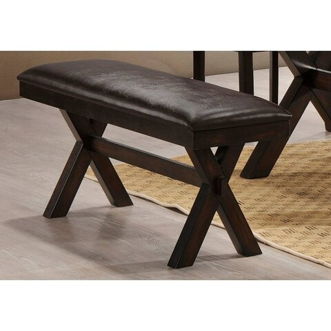 Simmons Casegoods Austin Brown Upholstered Dining Bench