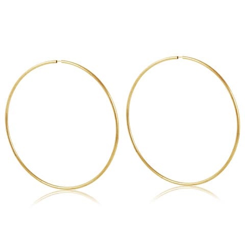 Gold Plated Gold 65mm Hoop Earrings