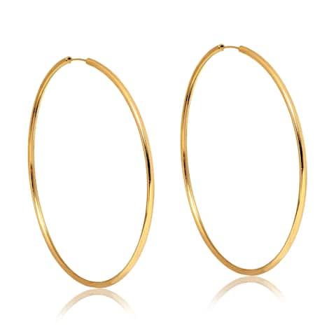 Gold Plated 70mm Hoop Earrings