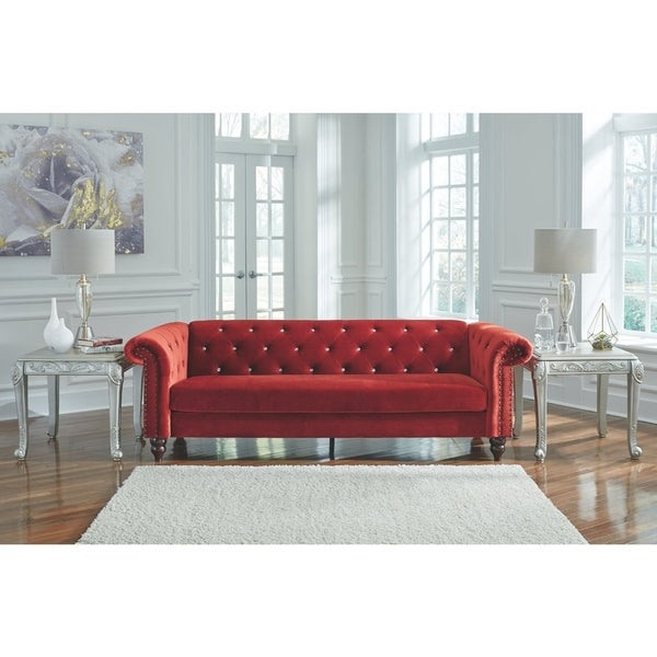 Signature Design by Ashley, Malchin Contemporary Ready To Assemble Red Sofa