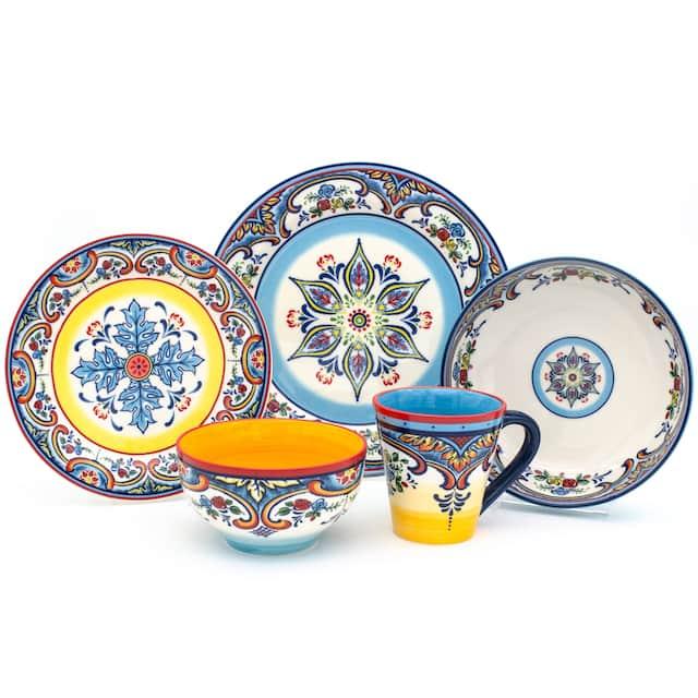 Euro Ceramica Zanzibar 20-piece Stoneware Dinner Set (Service for 4)