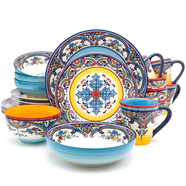 Euro Ceramica Zanzibar 20-piece Stoneware Dinner Set (Service for 4). Opens flyout.