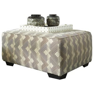 Eltmann Contemporary Slate Oversized Accent Ottoman