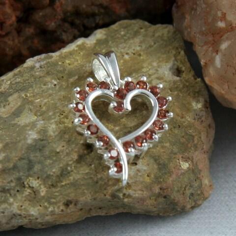 Handmade Garnet Love Pendant (India)