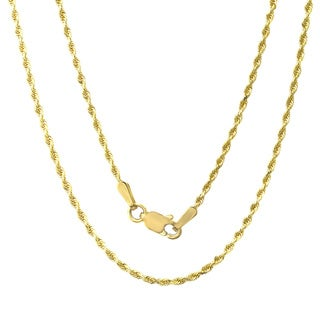 Sterling Essentials 14k Yellow Gold Rope Chain Necklace
