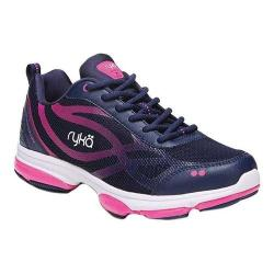 Women's Ryka Devotion XT Sneaker Blue/Pink/White Fabric/PU (More options available)