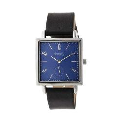 Simplify 5000 Leather Band Watch Black Leather/Silver/Blue