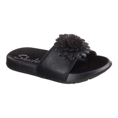dd11691e9832 Shop Women s Skechers 2nd Take Metal Petal Slide Sandal Black Black - Free  Shipping On Orders Over  45 - Overstock - 19288064