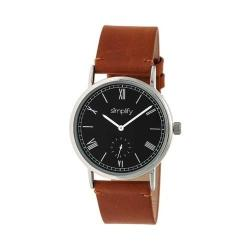 Simplify 5100 Leather Band Watch Camel Leather/Silver/Black