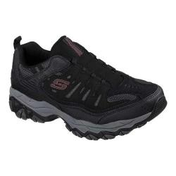 Men's Skechers After Burn M. Fit Slip-On Walking Shoe Black/Charcoal