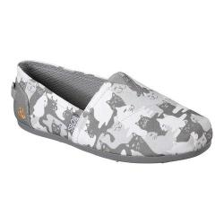 Women's Skechers BOBS Plush Cat-Mouflage Alpargata Gray - Thumbnail 0