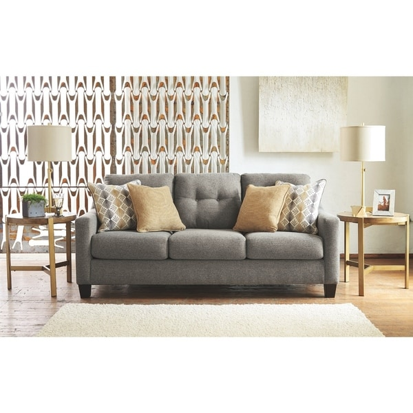 Benchcraft Daylon Contemporary Graphite Sofa
