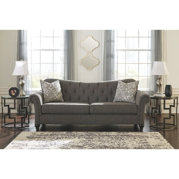 Shop Benchcraft Praylor Slate Grey Sofa