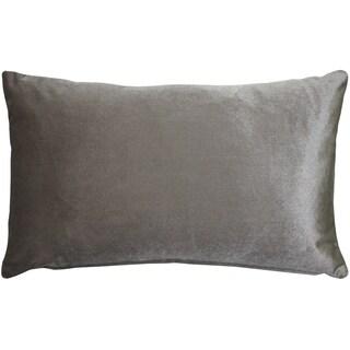 Pillow Décor - Corona Silver Velvet Pillow 12x20