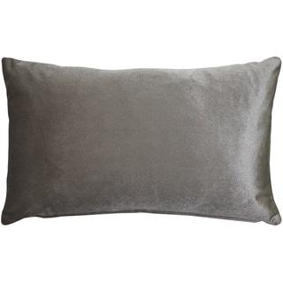 Pillow Decor - Corona Silver Velvet Pillow 12x20