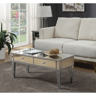 Silver Orchid Bertram Mirrored Coffee Table