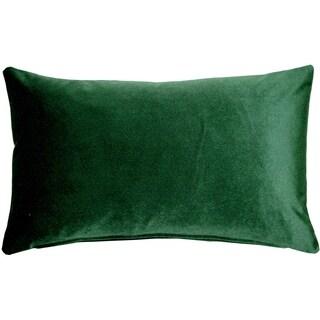 Pillow Décor - Corona Hunter Green Velvet Pillow 12x20