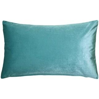 Pillow Décor - Corona Aqua Blue Velvet Pillow 12x20