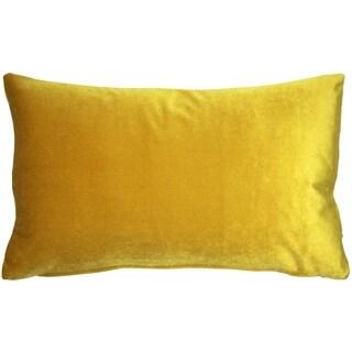 Pillow Décor - Corona Deep Yellow Velvet Pillow 12x20