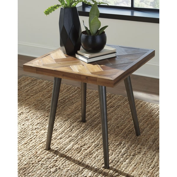 Signature Designs By Ashley Rollins Square End Table: Shop Signature Design By Ashley, Vantori Light Brown