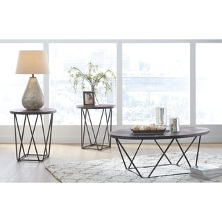 Neimhurst Contemporary Dark Brown 3-Piece Occasional Table Set