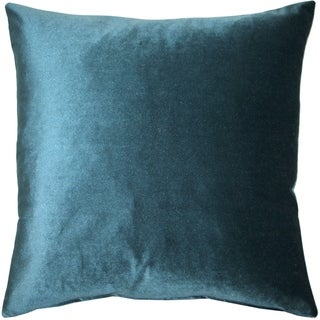 Pillow Decor - Corona Teal Velvet Pillow 16x16