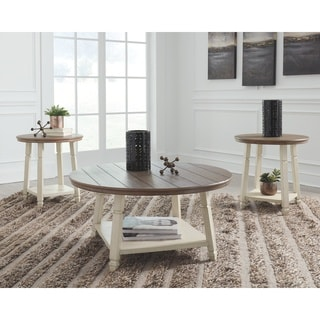 Bolanbrook Casual Two-tone 3-Piece Occasional Table Set