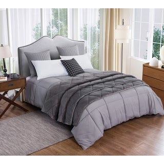 St. James Home Microfiber Comforter and Velvet Blanket Set
