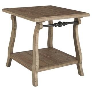 Dazzelton Casual Two-tone Rectangular End Table