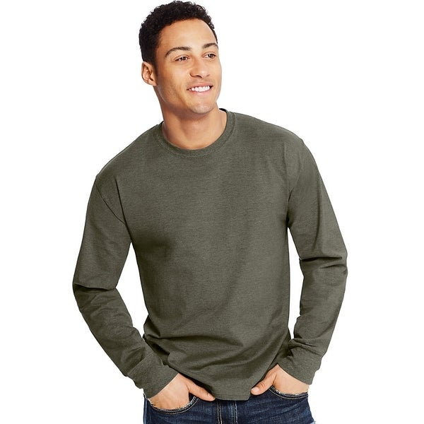 Hanes mens X-Temp Long-Sleeve T-Shirt (O5716). Opens flyout.