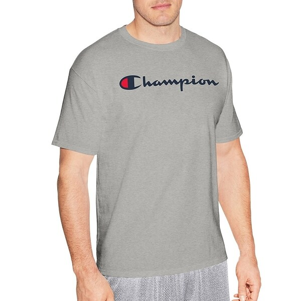 35e03606a03298 Shop Hanes mens Jersey Tee, Script Logo (GT280 Y06794) - Free Shipping On  Orders Over $45 - Overstock - 22610987