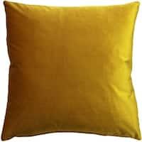 Pillow Décor - Corona Deep Yellow Velvet Pillow 16x16