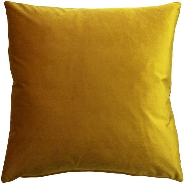 Pillow Decor - Corona Deep Yellow Velvet Pillow 16x16