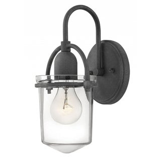 Hinkley Clancy 1-Light Sconce in Aged Zinc