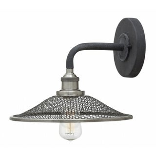 Hinkley Rigby 1-Light Sconce in Aged Zinc