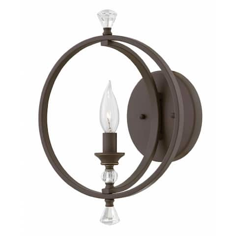 Hinkley Waverly 1-Light Sconce in Oil Rubbed Bronze