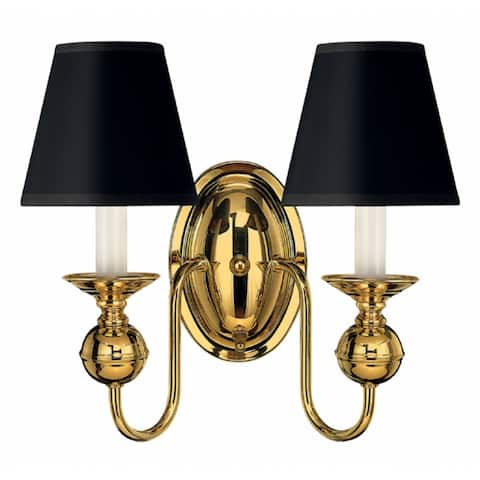 Hinkley Virginian 2-Light Sconce in Polished Brass
